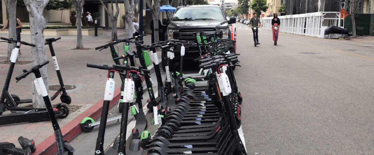 dockless scooters in la