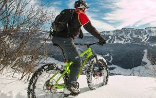 fat tire electric bike for snow