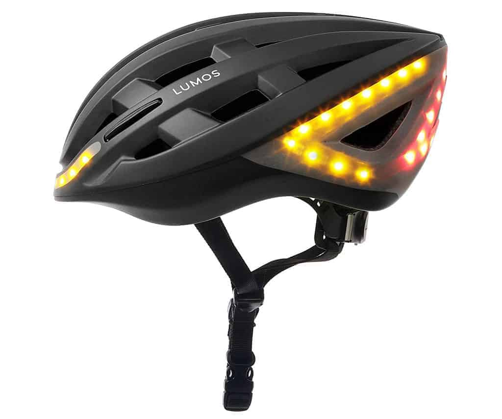 bike and scooter helmet with LED signal lights
