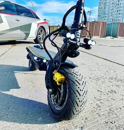 Fat Tire Electric Scooter 3 Ride Two Wheels